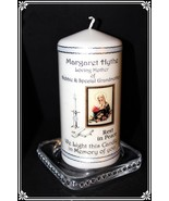 Catholic Mass memorial candle personalised for loved one. - $19.79