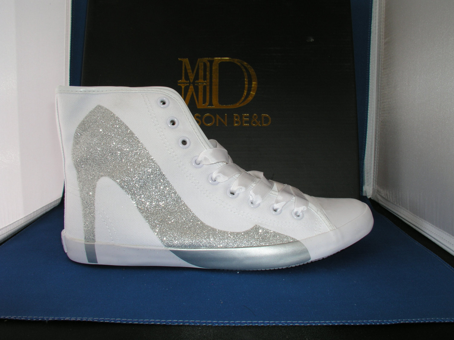 Primary image for Bright Light Glitter Silver Sneaker by BE&D Maison Dumain