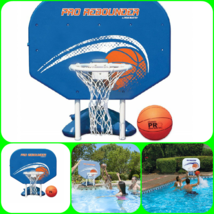Pool Side Basket Ball Game Swimming Fun Hoop Play Water Sport Hard Back ... - $113.99
