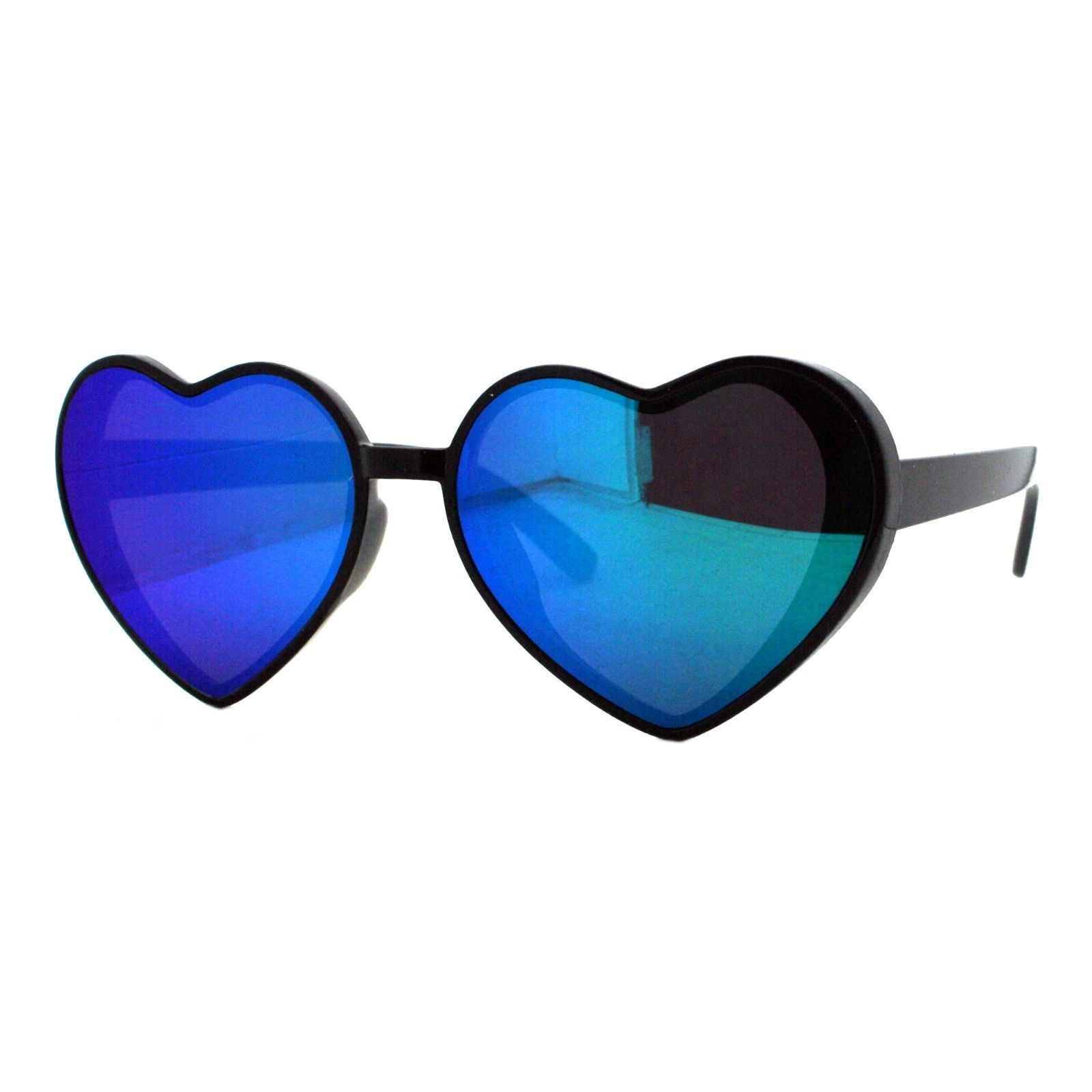Oversized Heart Shape Sunglasses Womens Fashion Mirrored Lens Shades image 4
