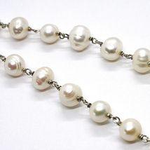 Halskette Silber 925, Kreise Koralle, Perlmutt Oval und Weissen Perlen image 5