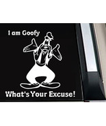 """Disney Goofy """"What's Your Excuse?"""" Vinyl Decal Sticker 7 INCH - $7.99"""