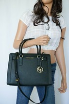 NWT MICHAEL KORS DILLON TOP ZIP MEDIUM EW SATCHEL LEATHER SHOULDER BAG B... - $103.94