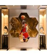 Michael Jordan Wall Art Painting Canvas Poster Print Decor 7 Hexagon Pan... - $94.99+