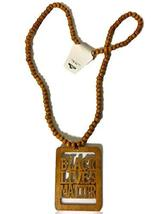 Black Lives Matter Afrocentric Beaded Necklace (Brown) - $19.79