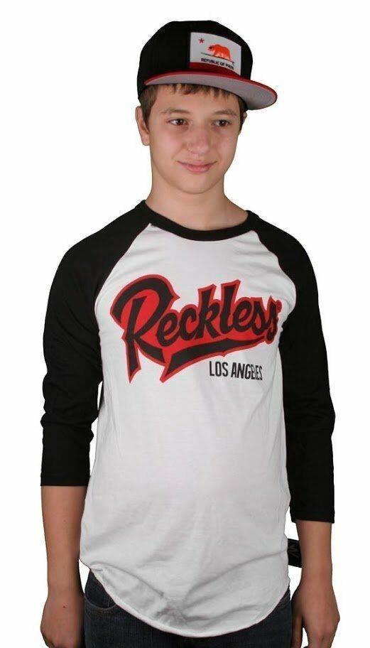 Young and Reckless Kill Switch Raglan Baseball 2XL XXL White Black T-Shirt