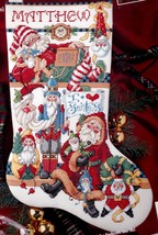 Bucilla I Love Santas Santa Collage Christmas Cross Stitch Stocking Kit 83433 R - $47.95