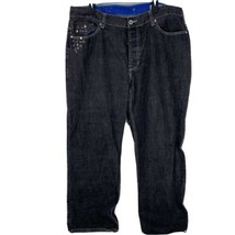 Enyce Clothing Co. Adult Size 42x32 Black Embroidered Denim Pants Jeans - $29.66