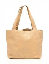 Chanel tote bag here mark beige caviar skin - $802.90