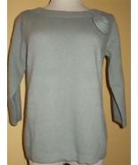 AXCESS Liz Claiborne Co Sage Green Wool Blend Sweater Pullover Sz M Top ... - $21.25