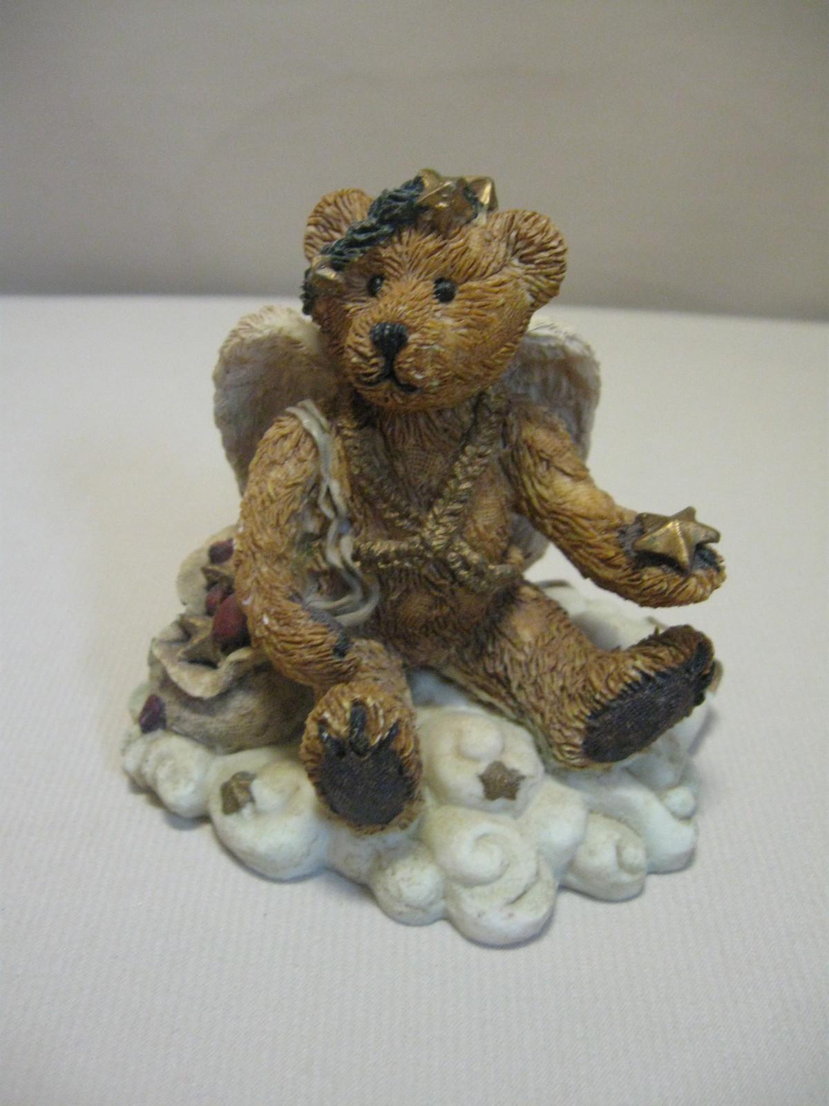 Figurine Boyds Bear & Friends Clarence Angel Bear With Star #2029-11 Retire 1993