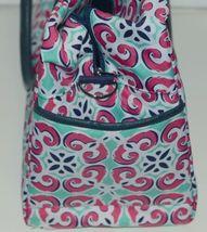 Viv Lou M440VLMIA Mia Tile Travel Bag Lime Green Pink and Navy Blue image 3