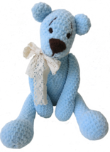 Amigurumi -Teddy Bear Alex-teddy bear toy-collectible decorative bear-de... - $40.00