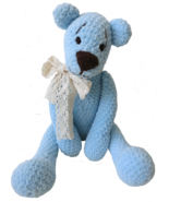 Amigurumi -Teddy Bear Alex-teddy bear toy-collectible decorative bear-de... - $761,68 MXN
