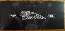 2002 Indian Chief Motorcycle Brochure, Deluxe and Roadmaster, Xlnt - $7.90