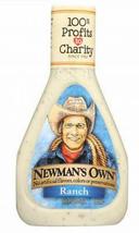 Newman's Own Ranch Salad Dressing, 16oz, Case of 6 bottles, gluten free - $38.99