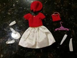 Vtg 1964 SKIPPER Silk Fancy RED #1902 Dress Hat Shoes Purse Socks Glove ... - $73.96