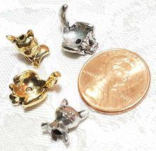 CAT FINE PEWTER BEAD CAP WRAP - 11mm L x 19mm W x 11mm D image 3