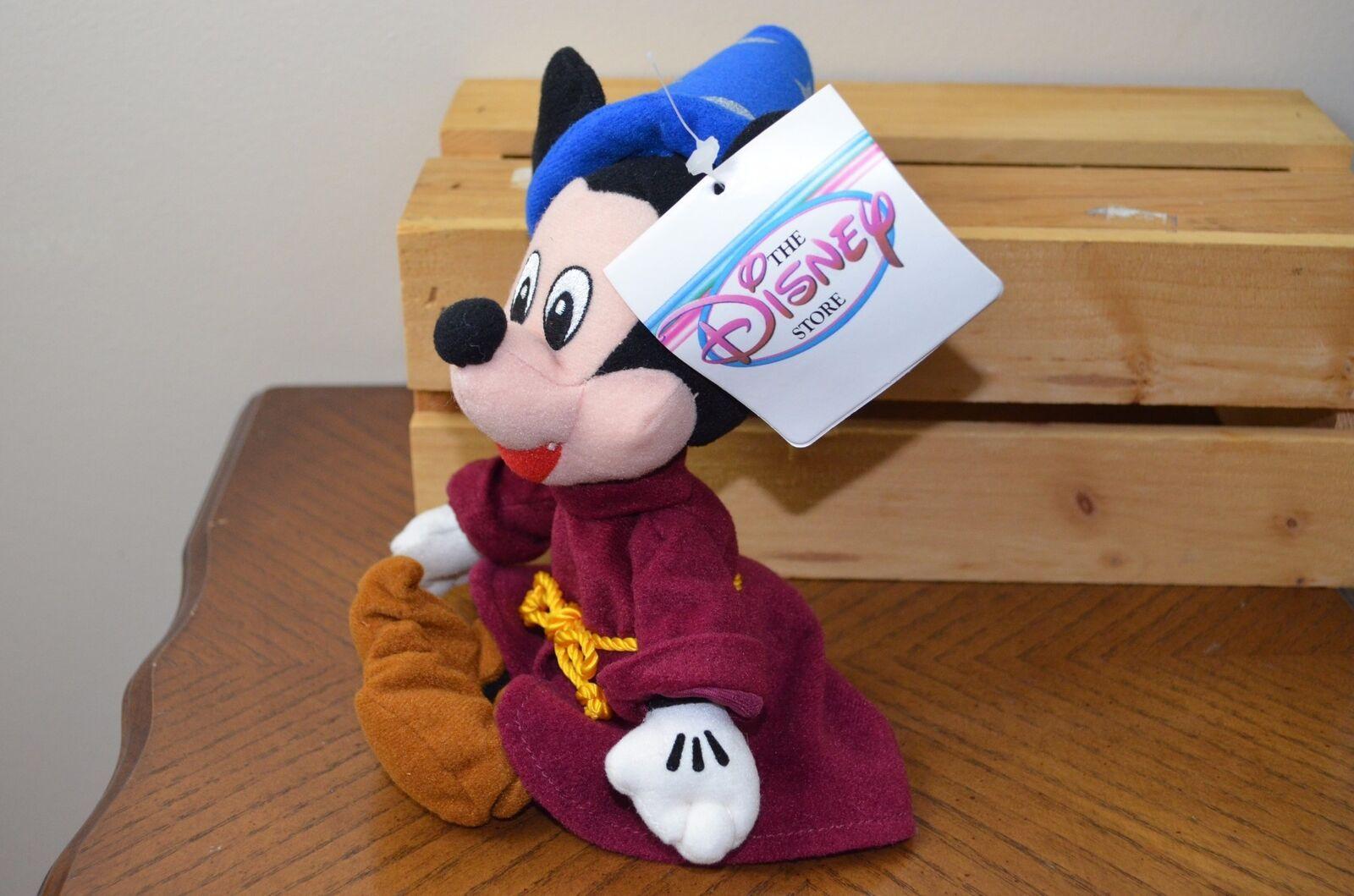 fa570830d2c Mickey Mouse Fantasia Sorcerer Disney Store Mini Bean Bag Beanie Plush Doll  11