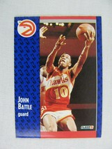John Battle Atlanta Hawks 1991 Fleer Basketball Card 1 - $0.98