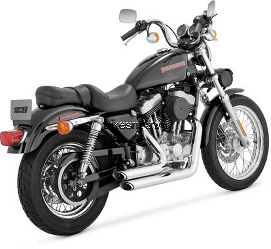 New Vance & Hines Shortshots Staggered Chrome 1999-2003 Sportster XL Harley