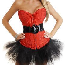 Women Sexy Lingerie Corset Top Ribbon G-string Cincher Nightwear Underwe... - $50.16