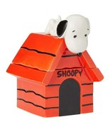 """Enesco 6004161 Peanuts Snoopy on Dog House Cookie Jar 10"""" Red - $69.87"""