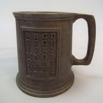 RWP Wilton Armetale Metal Child's ABC Alphabet Cup Mug Stamped Made USA - $11.61