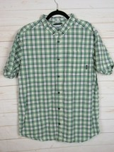 Columbia Mens Short Sleeve Green Plaid Button Up Shirt Size XL  W1071 - $17.99