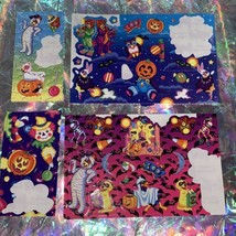 Vintage Lisa Frank Partial Rare Halloween Sticker Sheets Mummy Bears Vampire Etc