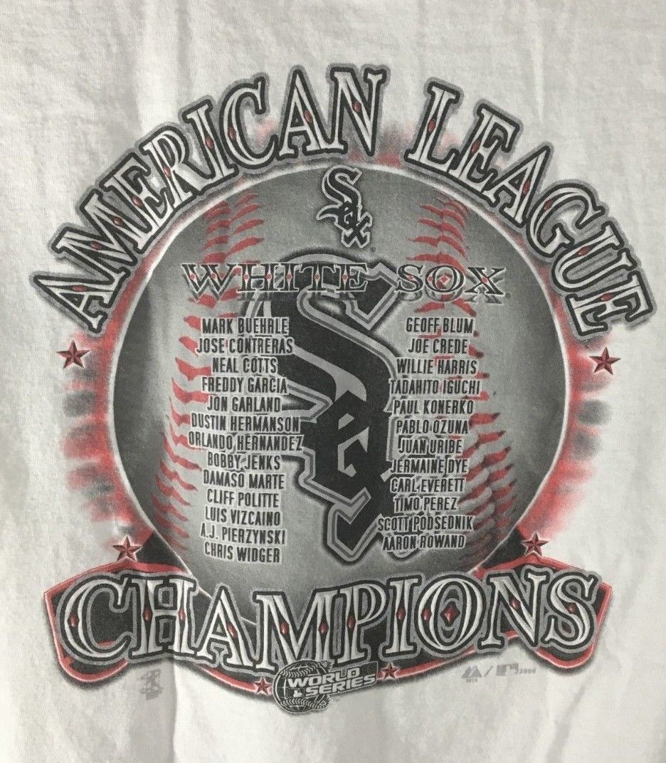 Men's T Shirt Chicago White Sox MLB American League Champions 2005 Size XL