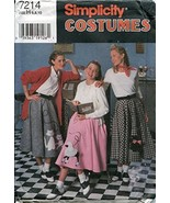 Simplicity Pattern 7214 ~ Misses' Circle Skirt with Patterns for Appliqu... - $10.14