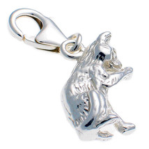 Sterling 925 Silver Welded Bliss British Charm Cat Licking Paw Clip On fit - $19.44