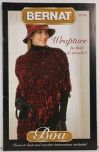 Wrapture to Knit and Crochet by Bernat Boa - $2.50