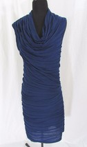 Max Studio Blue Sleeveless Pleated Dress Size M - $35.99
