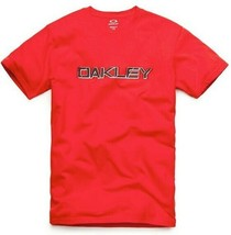 New Mens Oakley Unleash the Beast Short Sleeve T-shirt Red Line X-Large - $17.99