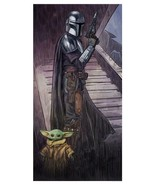 Star Wars The Mandalorian Foundling Yoda Lithograph Poster Print 12x24 M... - $119.98