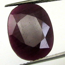 TOP LUSTER 13.9CT NATURAL UNTREATED RUBY (MANIK) OVAL FACETED RASHI SUN ... - $39.34