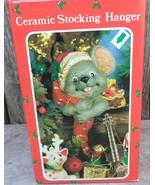 Christmas Mouse Ceramic Stocking Hanger - $22.00