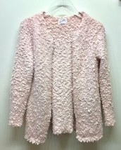 Zara Girls Knitwear Boucle Cardigan Sweater Coat Blush Pink 13-14 - $22.02