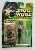 Star Wars Action Figure POTJ Chewbacca 2000 Jedi Force File  - $17.30