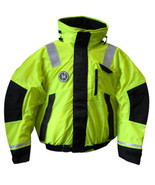 First Watch Hi-Vis Flotation Bomber Jacket - Hi-Vis Yellow/Black - X-Large - $258.83