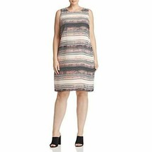 Vince Camuto Specialty Size Womens Sleeveless Ancient Muses Shift Dress 24W - $31.25