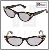 GUCCI 0089 Black Mother Of Pearl Thin Black Silver Mirrored Sunglasses 3807 - $311.85