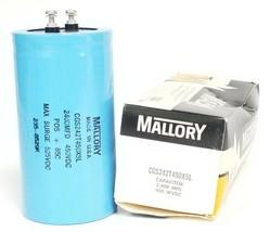 NIB MALLORY CGS242T450X5L CAPACITOR 2400 MFD, 450 WVDC