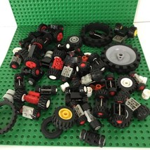 LEGO Bulk Lot Mixed Car Wheels, Axles, Misc K'nex - $1.25