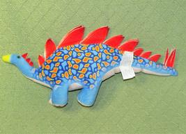 "17"" DINO DAN PLUSH STEGASAURUS 2012 FIESTA STUFFED ANIMAL DINOSAUR BLUE ... - $22.28"