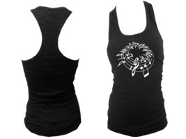Music notes great musician gifts black women racerback sleeveless fit tank top - $12.99