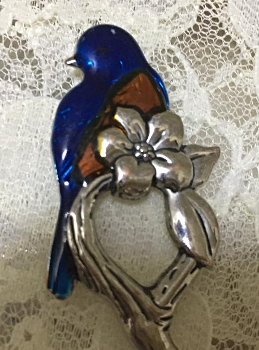 Ganz Leaf Shaped  Spoons W Enameled Bird Handles Robin Wren Collectibles [15]