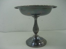 """Vintage Sheridan Silver Plated Pedestal 6"""" Tall Candy Nut Bowl Dish - $13.98"""